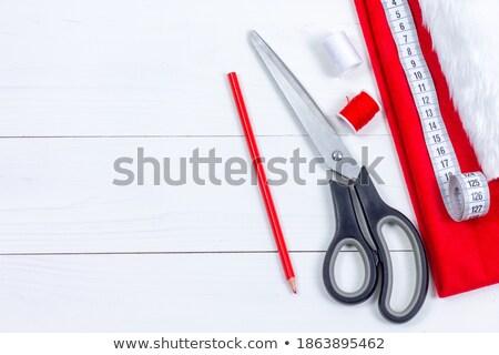 Grupo objetos equipamento de costura ocupação oficina Foto stock © pressmaster