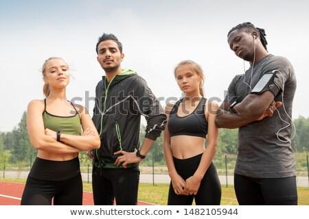 Tijdgenoot jonge multiculturele mensen sportkleding naar Stockfoto © pressmaster