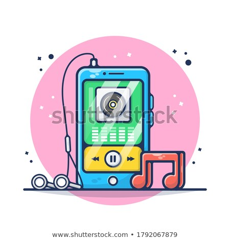 Set of Modern Wireless Technology in Cartoon Style Stock photo © robuart