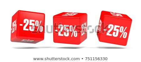 twenty five percent on white background isolated 3d illustratio stock photo © iserg