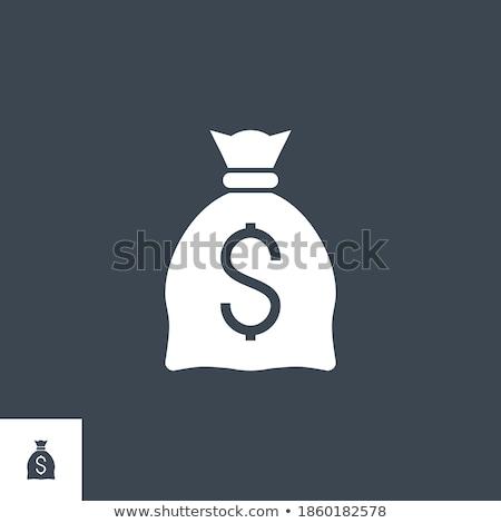 Dinheiro saco dólar vetor ícone isolado Foto stock © smoki