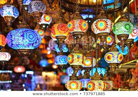 Turco lâmpadas venda bazar istambul Turquia Foto stock © borisb17