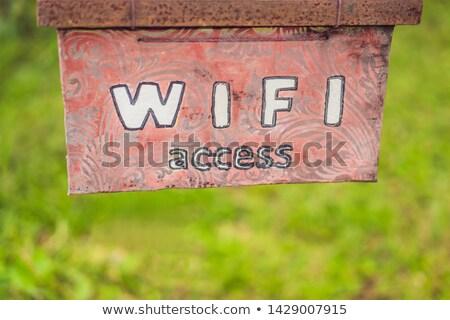 свободный · wi-fi · интернет · доступ · икона · кнопки - Сток-фото © galitskaya