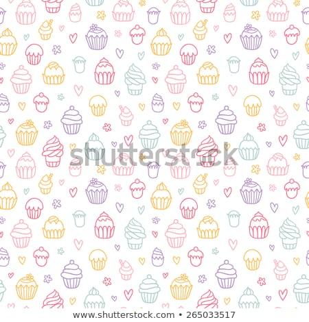 Vetor bonitinho papel de parede Foto stock © Margolana