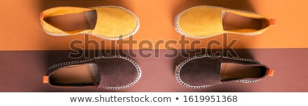 Banner of two pair of espadrilles, Loafers Stock photo © Illia