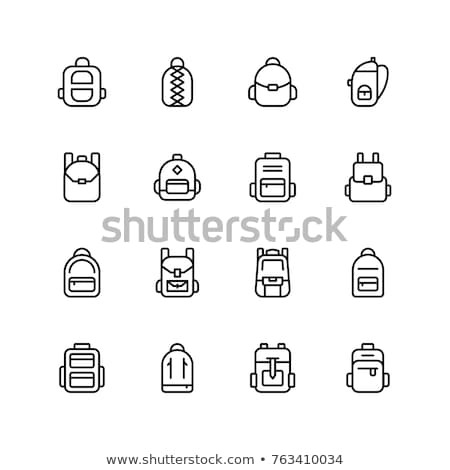 Travel Camping Backpack Icon Vector Outline Illustration Stock photo © pikepicture