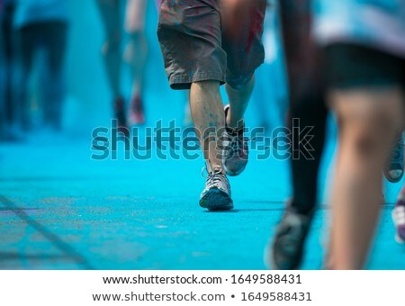 People participating in the Color Run Stock photo © lightpoet