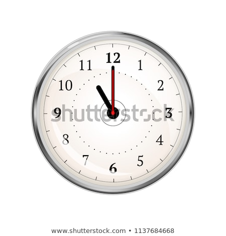 Realistic clock face showing 11-00 on white Stock photo © evgeny89