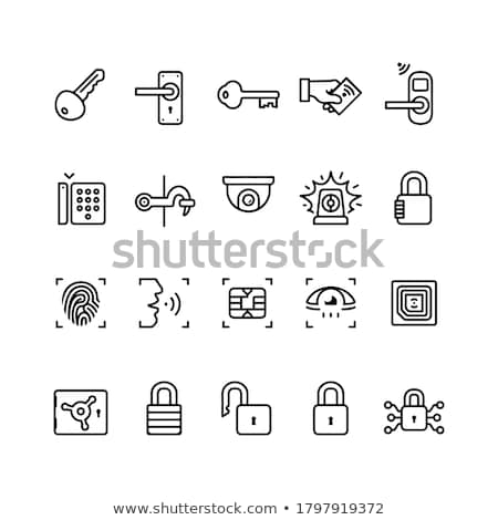 security deposit camera icon vector outline illustration Stock photo © pikepicture
