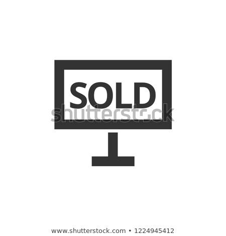 Uitverkocht icon vector schets illustratie Stockfoto © pikepicture