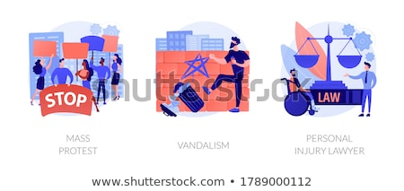 Riots outrage abstract concept vector illustrations. Stock photo © RAStudio