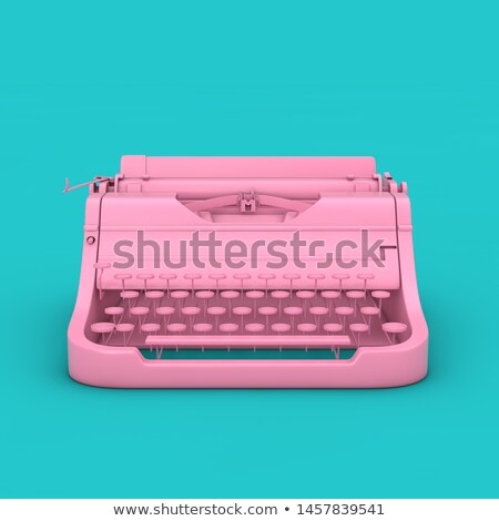 Antique Typewriter 3D Illustration Stock photo © eyeidea