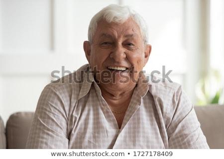 Inteligentny starszy człowiek portret przystojny odizolowany Zdjęcia stock © lisafx