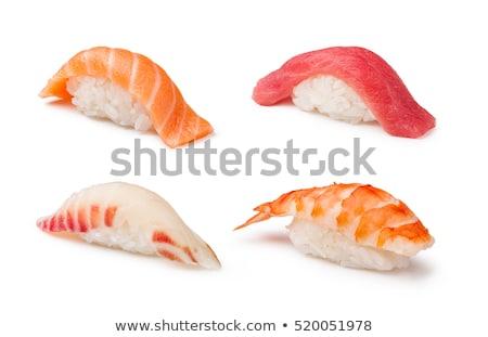 sushi · odizolowany · biały · trzy · sztuk · California - zdjęcia stock © lisafx