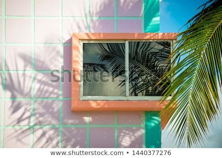 детали фасад красивой юг Майами art deco Сток-фото © meinzahn