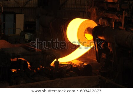 mill worker with hot steel Stock photo © mady70