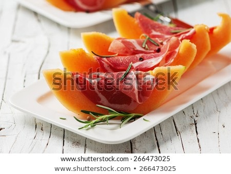salad with melon and parma ham Stock photo © M-studio