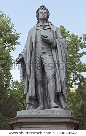 statue of Friedrich Schiller in Frankfurt Stock photo © meinzahn