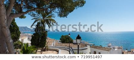 市 · スペイン · ビーチ · 空 · 建物 · 太陽 - ストックフォト © amok