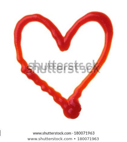 Foto d'archivio: Cuori · ketchup · due · isolato · bianco · amore