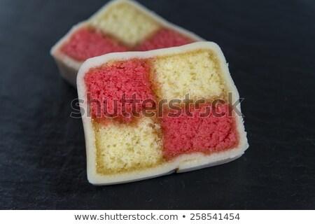 Twee cake plaat beker Stockfoto © raphotos