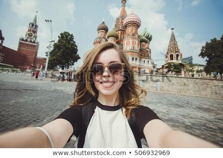 bastante · femenino · turísticos · toma · Foto · extranjero - foto stock © witthaya