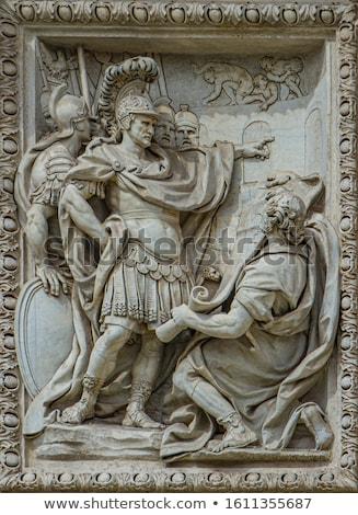 Alivio escultura vaticano museo blanco negro Foto stock © lorenzodelacosta