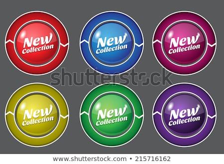 new collection purple circular vector button stock photo © rizwanali3d