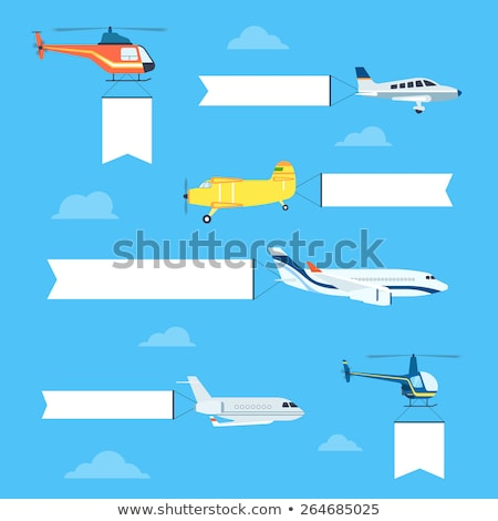 Airplane Sign Yellow Vector Icon Design Stock photo © rizwanali3d