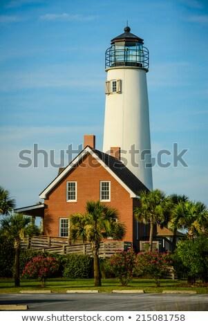 Lighthouse on St. George Island near Apalachicola, Florida, USA Stock photo © meinzahn