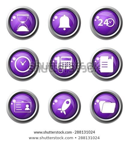 Time Duration Violet Vector Button Icon Design Set Stock photo © rizwanali3d