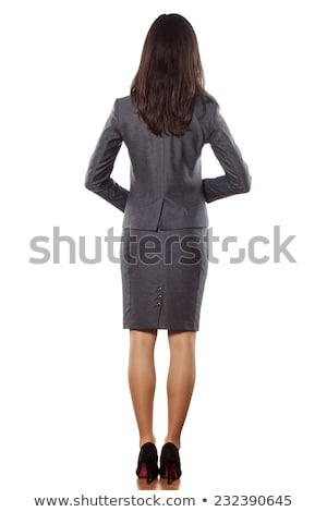 Business woman back view Stock photo © fuzzbones0