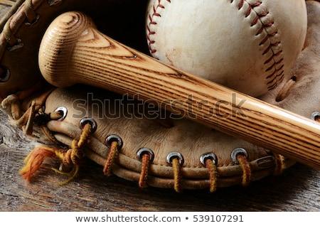 öreg · baseball · kesztyű · mező · sport · sportok · nyár - stock fotó © stephaniefrey