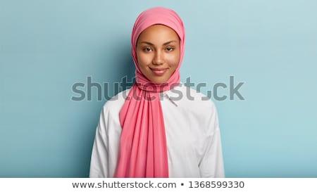 Schoonheid model portret hoofddoek vrouw meisje Stockfoto © chesterf