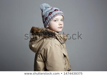 портрет мальчика снега ребенка фитнес зима Сток-фото © IS2