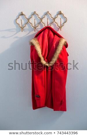 Rot hängen Haken weiß Wand Stock foto © wavebreak_media