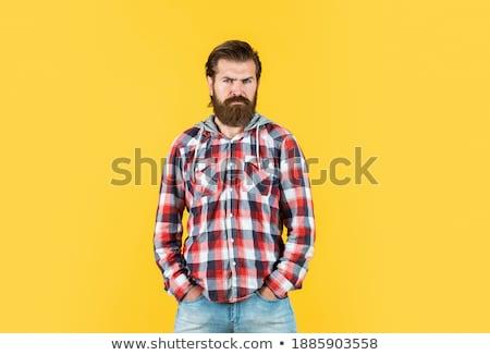 Foto stock: Caucásico · hombre · camisa · de · moda