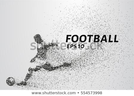 Abstrato futebol preto partículas futebol mundo Foto stock © SArts