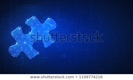 A piece of puzzle on futuristic hud background. Stock photo © RAStudio
