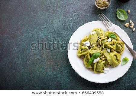 Italiano farinha espinafre outro ingredientes queijo Foto stock © bdspn