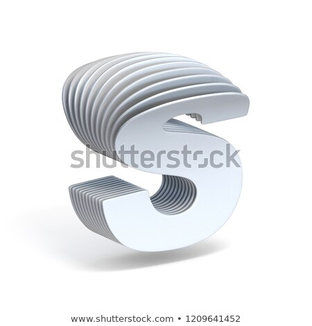 Curved paper sheets Letter S 3D Stock photo © djmilic