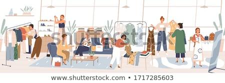 Stockfoto: Vrouw · kiezen · kleding · kleding · store · winkelen