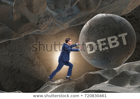 Stock photo: Business concept of debt and borrowing