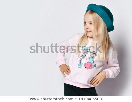 school girl Blue jersey_emotion stock photo © toyotoyo
