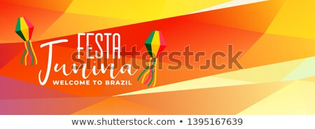 Brezilya festival afiş soyut dans renk Stok fotoğraf © SArts
