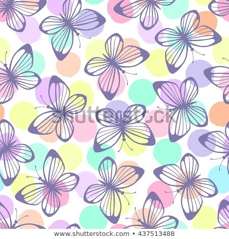 Insect vleugels Geel vlinder vector stippel Stockfoto © robuart