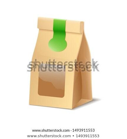Papel acondicionamento eco saco comida Foto stock © MarySan