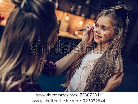 Família halloween bonitinho pequeno crianças meninas Foto stock © choreograph