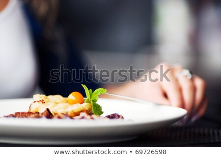 Cafe Tables with Food and Dishes Healthy Eating Stock photo © robuart