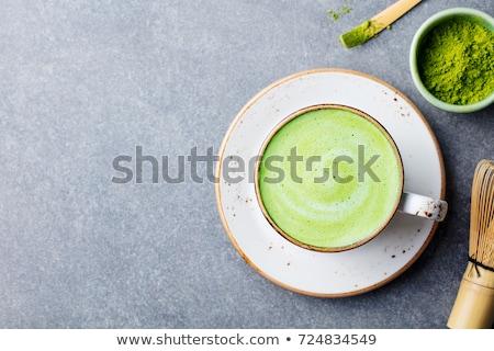 Green healthy matcha latte drink Stock photo © furmanphoto